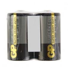 Батарейка солевая GP Supercell Super Heavy Duty, 13S R20Р, 1.5В, спайка, 2 шт.