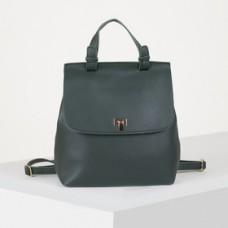 Рюкзак молодёжный, отдел на молнии, цвет зелёный